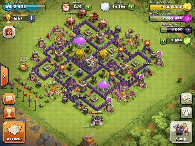 La mejor aldea Ayuntamiento 7 para Farming